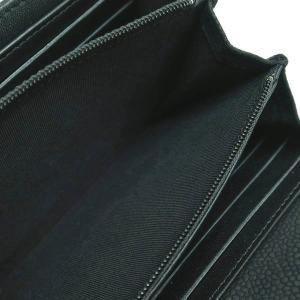 シャネル 2つ折り長財布 ソフトキャビアスキン マトラッセ ブラック シルバーココ A50096 中古(程度良)|lafesta-k|09
