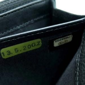 シャネル 2つ折り長財布 ソフトキャビアスキン マトラッセ ブラック シルバーココ A50096 中古(程度良)|lafesta-k|10