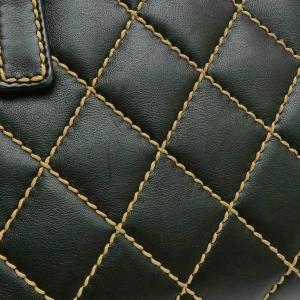 シャネル ハンドバッグ ワイルドステッチ ラムスキン マトラッセ ブラック 箱付き 中古(程度良)|lafesta-k|07
