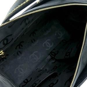 シャネル ハンドバッグ ワイルドステッチ ラムスキン マトラッセ ブラック 箱付き 中古(程度良)|lafesta-k|10