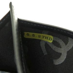 シャネル Wホック長財布 カンボンライン マトラッセ カーフ ブラック エナメルココ 箱付き A46643 中古(程度良)|lafesta-k|13