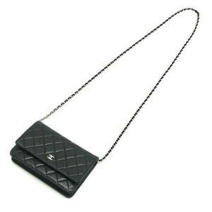 シャネル チェーンウォレット 長財布兼用バッグ マトラッセ キャビアスキン ブラック 箱 紙袋付き A33814 中古(程度極良)|lafesta-k|06