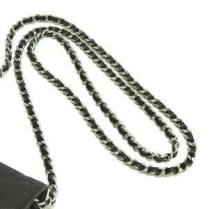 シャネル チェーンウォレット 長財布兼用バッグ マトラッセ キャビアスキン ブラック 箱 紙袋付き A33814 中古(程度極良)|lafesta-k|07