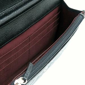 シャネル チェーンウォレット 長財布兼用バッグ マトラッセ キャビアスキン ブラック 箱 紙袋付き A33814 中古(程度極良)|lafesta-k|10