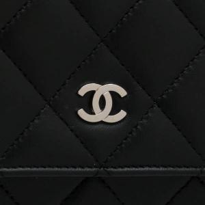 シャネル チェーンウォレット 長財布兼用バッグ マトラッセ ラムスキン ブラック 箱付き A33814 中古(新品同様)|lafesta-k|05