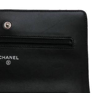 シャネル チェーンウォレット 長財布兼用バッグ マトラッセ ラムスキン ブラック 箱付き A33814 中古(新品同様)|lafesta-k|08