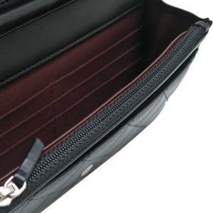 シャネル チェーンウォレット 長財布兼用バッグ マトラッセ ラムスキン ブラック 箱付き A33814 中古(新品同様)|lafesta-k|10