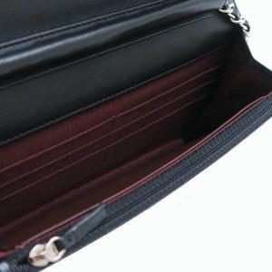 シャネル チェーンウォレット マトラッセ ラムスキン ブラック シルバーココマーク 箱付き A33814 中古(程度極良【美品】)|lafesta-k|11
