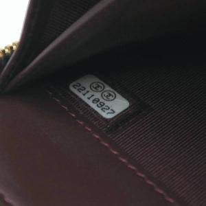 シャネル 長財布 ジップ ウォレット マトラッセ キャビアスキン ブラック ゴールドココ 保存袋付き A50097 中古(程度極良【美品】)|lafesta-k|09