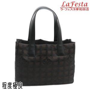 シャネル ニュートラベルライン トートバッグPM マロン 保存袋付き A20457 中古(程度極良)|lafesta-k