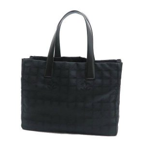 シャネル ニュートラベルライン トートバッグMM ブラック 黒 保存袋付き A15991 中古(程度極良)|lafesta-k|02