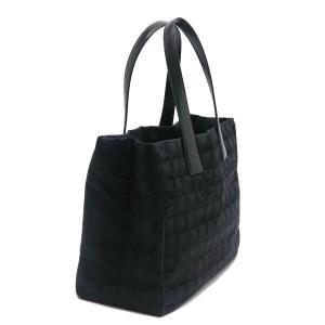シャネル ニュートラベルライン トートバッグMM ブラック 黒 保存袋付き A15991 中古(程度極良)|lafesta-k|03