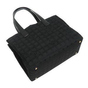 シャネル ニュートラベルライン トートバッグMM ブラック 黒 保存袋付き A15991 中古(程度極良)|lafesta-k|04