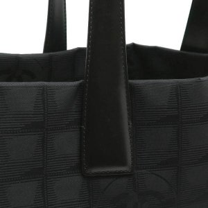 シャネル ニュートラベルライン トートバッグMM ブラック 黒 保存袋付き A15991 中古(程度極良)|lafesta-k|06