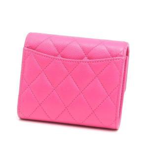 シャネル 3つ折り財布 スモール フラップ ウォレット キャビアスキン マトラッセ ピンク 箱付き AP0229 中古(新品同様) lafesta-k 02