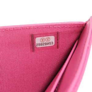 シャネル 3つ折り財布 スモール フラップ ウォレット キャビアスキン マトラッセ ピンク 箱付き AP0229 中古(新品同様) lafesta-k 11