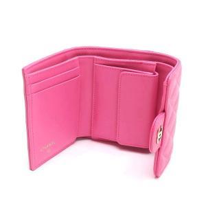 シャネル 3つ折り財布 スモール フラップ ウォレット キャビアスキン マトラッセ ピンク 箱付き AP0229 中古(新品同様) lafesta-k 05