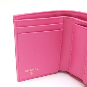 シャネル 3つ折り財布 スモール フラップ ウォレット キャビアスキン マトラッセ ピンク 箱付き AP0229 中古(新品同様) lafesta-k 06