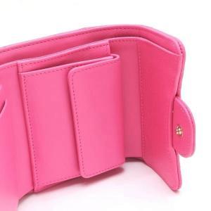 シャネル 3つ折り財布 スモール フラップ ウォレット キャビアスキン マトラッセ ピンク 箱付き AP0229 中古(新品同様) lafesta-k 07