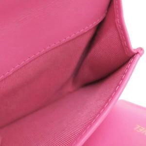 シャネル 3つ折り財布 スモール フラップ ウォレット キャビアスキン マトラッセ ピンク 箱付き AP0229 中古(新品同様) lafesta-k 10