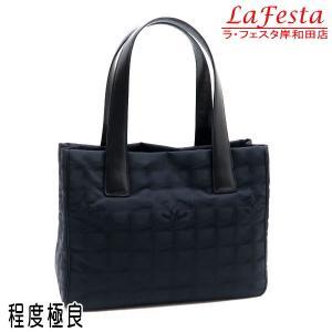 シャネル ニュートラベルライン トートバッグPM ブラック 黒 保存袋付き A20457 中古(程度極良)|lafesta-k