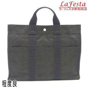 エルメス ハンドバッグ エールライン トートMM グレー 中古(程度良)|lafesta-k