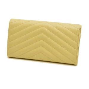 サンローラン 長財布 フラップウォレット 型押レザー ベージュ 箱付き 372264  中古(程度極良【美品】)|lafesta-k|02