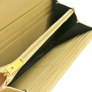サンローラン 長財布 フラップウォレット 型押レザー ベージュ 箱付き 372264  中古(程度極良【美品】)|lafesta-k|06