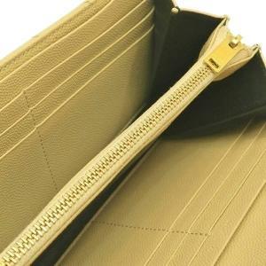 サンローラン 長財布 フラップウォレット 型押レザー ベージュ 箱付き 372264  中古(程度極良【美品】)|lafesta-k|07