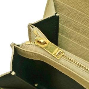 サンローラン 長財布 フラップウォレット 型押レザー ベージュ 箱付き 372264  中古(程度極良【美品】)|lafesta-k|09
