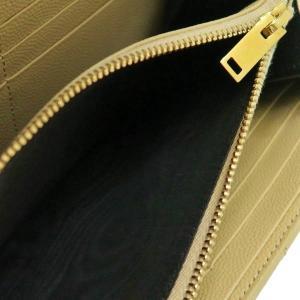 サンローラン 長財布 フラップウォレット 型押レザー ベージュ 箱付き 372264  中古(程度極良【美品】)|lafesta-k|10