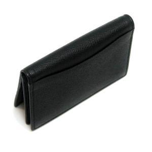 ブルガリ カードケース ブルガリ・ブルガリ マン グレインレザー ブラック 280297 中古(程度極良)|lafesta-k|03