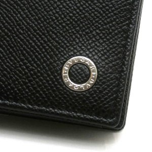 ブルガリ カードケース ブルガリ・ブルガリ マン グレインレザー ブラック 280297 中古(程度極良)|lafesta-k|04
