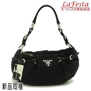 プラダ ショルダーバッグ ナイロン ブラック BR3815 中古(新品同様)|lafesta-k
