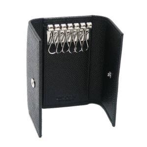 ブルガリ 6連キーケース クラシコライン グレインレザー ブラック 箱付き 20234 新品(展示品)|lafesta-k|04