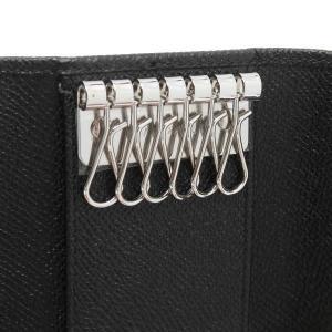ブルガリ 6連キーケース クラシコライン グレインレザー ブラック 箱付き 20234 新品(展示品)|lafesta-k|05