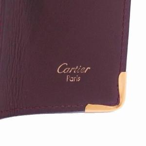 カルティエ 4連キーケース マストライン レザー ボルドー Gカード 箱付き L3000453 中古(程度極良)|lafesta-k|07