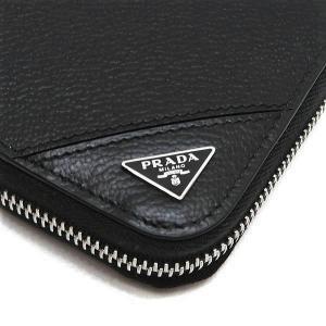 プラダ 長財布 グレインレザー ブラック シルバー三角プレート Gカード 箱 紙袋付き 2ML317 新品|lafesta-k|04