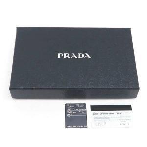 プラダ 長財布 グレインレザー ブラック シルバー三角プレート Gカード 箱 紙袋付き 2ML317 新品|lafesta-k|07