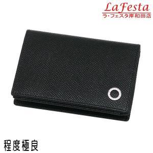 ブルガリ カードケース ブルガリ・ブルガリ マン グレインレザー ブラック 280297 中古(程度極良) lafesta-k