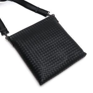 ボッテガ・ヴェネタ ショルダーバッグ イントレチャート メッセンジャーバッグ レザー ブラック 保存袋付き 276356 新品(展示品)|lafesta-k|03