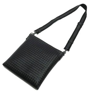 ボッテガ・ヴェネタ ショルダーバッグ イントレチャート メッセンジャーバッグ レザー ブラック 保存袋付き 276356 新品(展示品)|lafesta-k|04