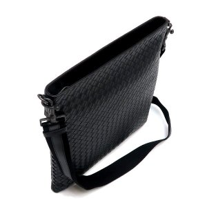 ボッテガ・ヴェネタ ショルダーバッグ イントレチャート メッセンジャーバッグ レザー ブラック 保存袋付き 276356 新品(展示品)|lafesta-k|05