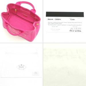 プラダ トートバッグ CANAPA キャンバス FUXIA ピンク BN2439 中古(程度極良)|lafesta-k|06