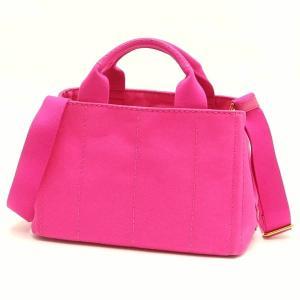 プラダ 2Wayバッグ CANAPA カナパ ストラップ付き キャンバス FUXIA ピンク  保存袋 箱付き B2439G 中古(新品同様)|lafesta-k|02