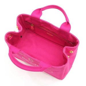 プラダ 2Wayバッグ CANAPA カナパ ストラップ付き キャンバス FUXIA ピンク  保存袋 箱付き B2439G 中古(新品同様) lafesta-k 11