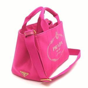 プラダ 2Wayバッグ CANAPA カナパ ストラップ付き キャンバス FUXIA ピンク  保存袋 箱付き B2439G 中古(新品同様)|lafesta-k|03