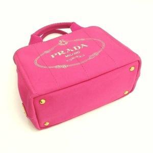 プラダ 2Wayバッグ CANAPA カナパ ストラップ付き キャンバス FUXIA ピンク  保存袋 箱付き B2439G 中古(新品同様)|lafesta-k|04