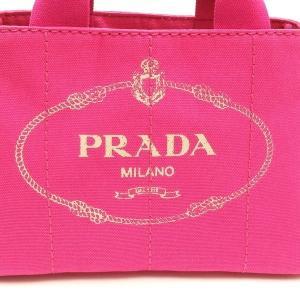プラダ 2Wayバッグ CANAPA カナパ ストラップ付き キャンバス FUXIA ピンク  保存袋 箱付き B2439G 中古(新品同様)|lafesta-k|05
