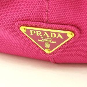 プラダ 2Wayバッグ CANAPA カナパ ストラップ付き キャンバス FUXIA ピンク  保存袋 箱付き B2439G 中古(新品同様) lafesta-k 07